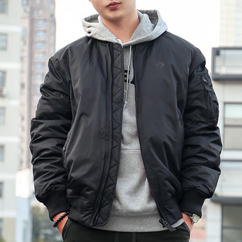 匡威羽绒服男2018冬季新款运动棒球服飞行员夹克保暖外套10004619