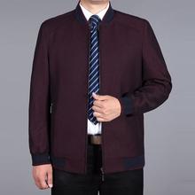 秋冬季棒球服中年男装夹克宽松爸爸装加肥加大码中老年外套棒球衫图片