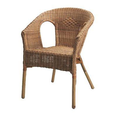 爱格 椅子 藤椅 可叠放单人沙发扶手椅 宜家国内代购IKEA年中大促