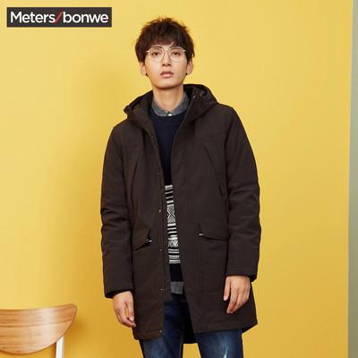 美特斯邦威长款棉服男装bf2017冬装新款官方旗舰店外套男韩版学生