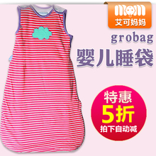 Special GROBAG Baby Sleeping Bag Pure Cotton Baby Kick-proof by BAG Cover Sleeveless 1.0T Spring and Summer