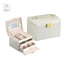 手表收纳盒子PU皮手提式首饰盒鳄鱼纹腕表手链展示箱盒饰品首饰箱