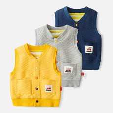 Boy's waistcoat, spring and autumn thin-skinned children, boy's autumn dress, boy's cotton vest and baby's shoulder
