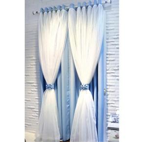 弧形落地窗窗帘文艺美容院小窗户窗帘公主风拉帘窗帘浪漫客厅纱窗