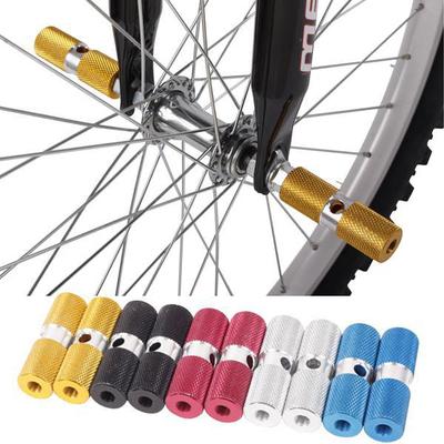 山地车脚踏自行车铝合金实心火箭筒脚踏杆脚柱脚垫平衡杆可以带人