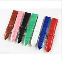 正品蒂玮娜Davena原装表带糖果色真皮表带手表带子多色选