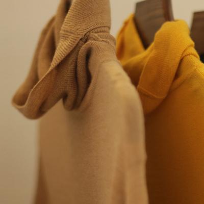 现货 RLL 60支澳洲100%美利奴羊毛 堆堆领纯羊毛衫春秋打底毛衣女