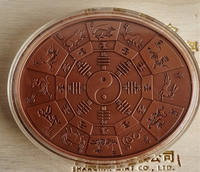 Shanghai Mint Company Oval Zodiac Year of the Rooster Bronze Oval Chicken Medal