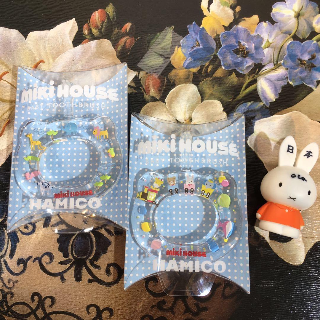 现货 日本mikihouse 17年新款宝宝可爱手环型牙刷日本制5个月-3岁