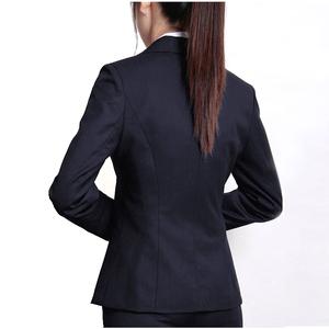 春季黑藏青职业女西装套装长袖女西服物业保险公司女工装正装