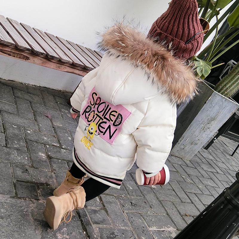 女童棉衣2018新中长款潮连帽儿童羽绒棉服外套冬装公主中小童棉袄