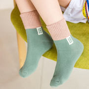 Children's socks cotton boy autumn and winter baby male tube socks cotton girl boy spring and autumn students big children cotton socks