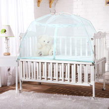 Children bed mosquito net Mongolian tent with bottom baby bed mosquito net with support 70*120*70 bed