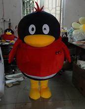 深圳腾讯QQ会员卡通人偶 企鹅吉祥物 行走人偶 毛绒公仔卡通服装