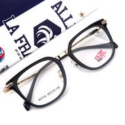 梦想秀黑金板材金属时尚装饰眼镜框 大框磨砂可配成品眼镜架男潮