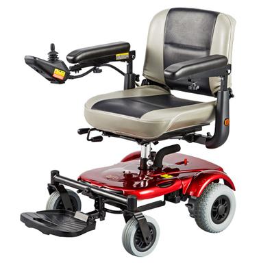 台湾原装进口美利驰P321迷你残疾人轻便电动轮椅车老年折叠代步车排行