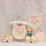 Baby hats, anti-grabbing gloves, footwear, cotton multi-piece suit for newborns in winter and summer