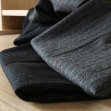 高阶精纺羊毛可贴身无扎感 羊毛西裤 男士 条纹商务正装 重磅推荐