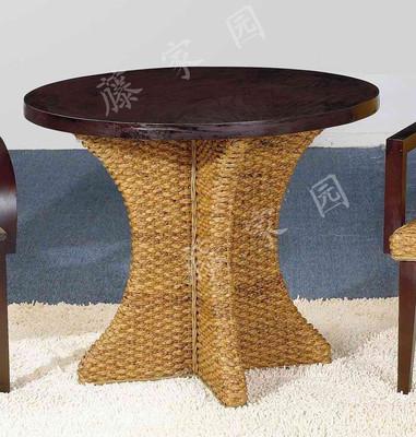 厂家直销 藤家具 实木圆桌 藤餐桌 藤餐桌椅组合 东南亚风格家具好不好