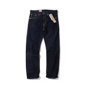 阿瞳牛社美国专柜Levis 505-0216 李维斯深蓝原色男士直筒牛仔裤