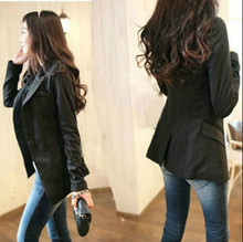 Spring and Autumn New-style Women's Decorated Body Small Suit Suit Korean Edition Mid-long Slim Lady's Jacket