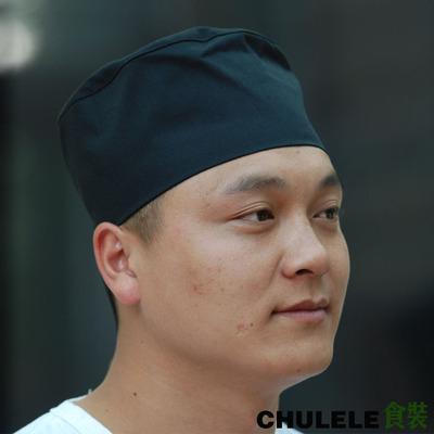 中西餐厅餐饮厨房厨师面点师工作帽 厨师帽平顶帽 厨师服装配饰