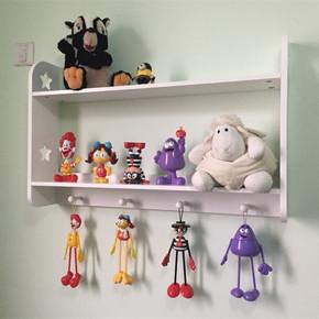 儿童挂墙上书架置物架创意壁挂宜家装饰架层架壁柜隔板搁板收纳架