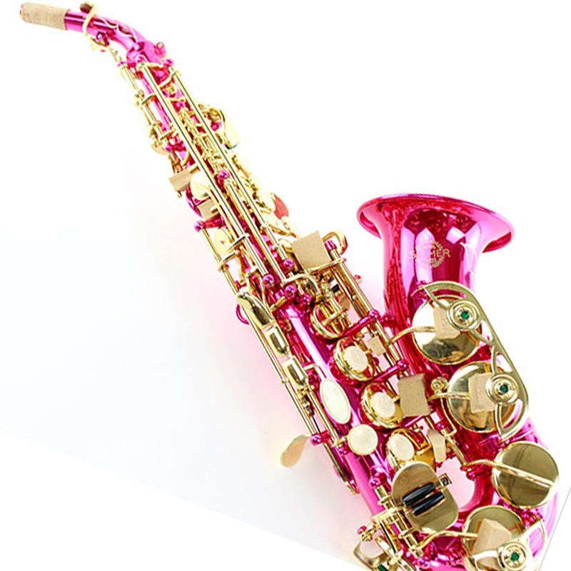 桃红色 调弯管高音萨克斯风乐器 B 降 SELMER 法国塞尔玛