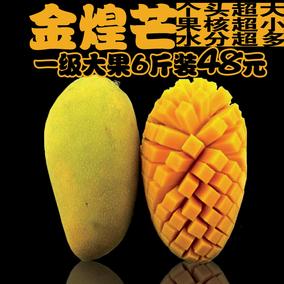 海南大金煌芒果6斤5新鲜包邮8水果10代发特价无丝2非中果厦门广西