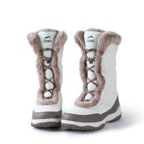 秋冬男女高帮登山鞋防滑加绒加厚雪地靴户外运动徒步鞋保暖旅游鞋