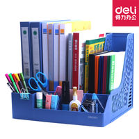 Effective file rack bookshelf desktop simple table file box student book stand file bar desk storage basket storage information folder folder storage box with pen holder office supplies