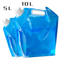 Folding water bag outdoor camping supplies camping portable large capacity bottle water bucket water bag 2L3L5L10L