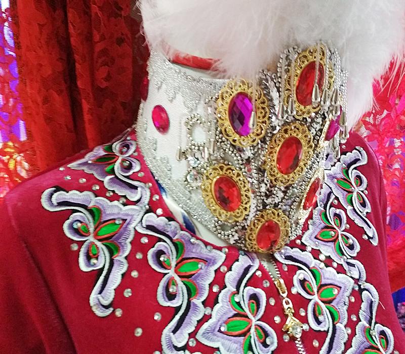新款新疆维吾尔族特色专用舞蹈服装民族舞马甲新款女包邮