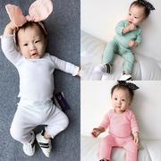婴儿儿童装男童冬装两件套装2017新款小童女宝宝运动休闲长袖卫衣