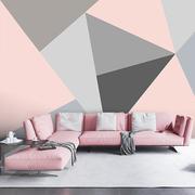 彩色几何电视背景墙壁纸北欧简约抽象墙纸客厅卧室无纺布壁画餐厅