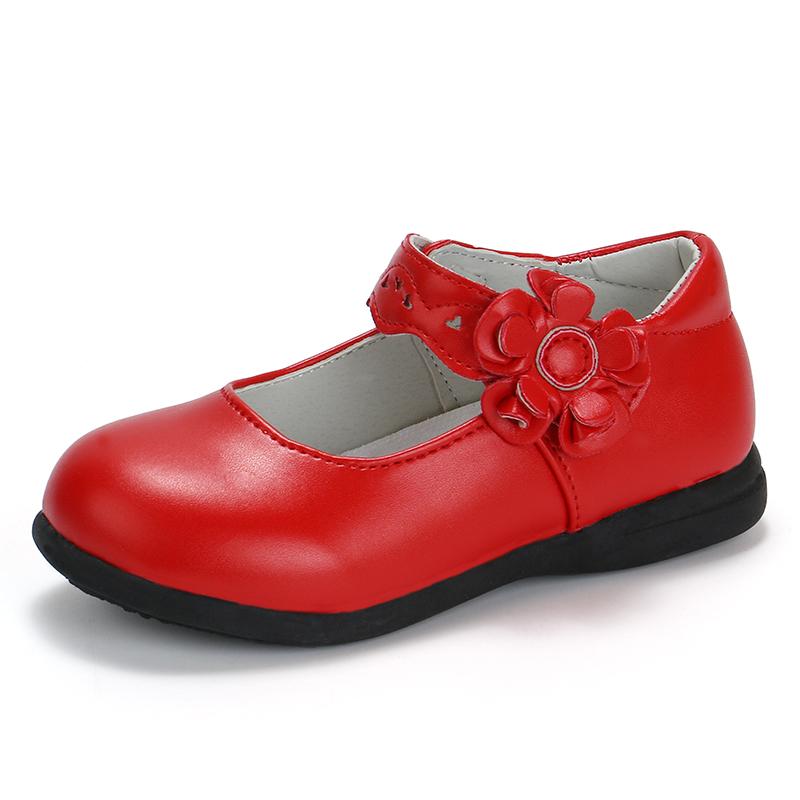 儿童公主鞋女单鞋表演白色主持鞋黑色皮鞋女童宝宝跳舞小孩中大童