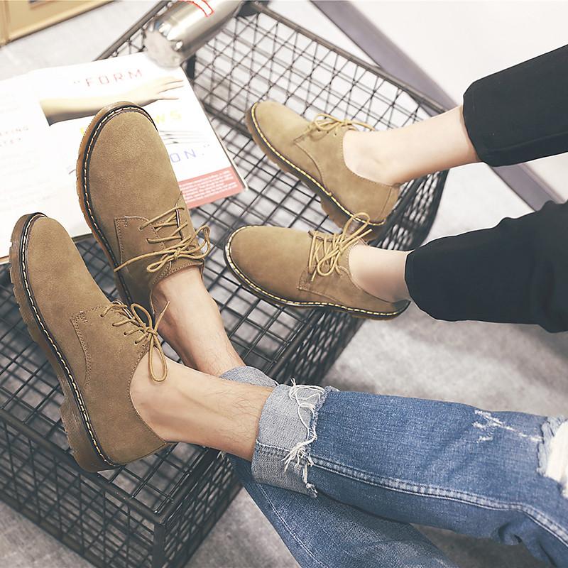 反绒皮真皮潮鞋