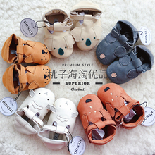 New Dutch DONSJE toddlers, baby shoes, spring and autumn cowhide soft-soled animals