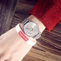 韩国森女生皮带手表女小表盘学生韩版胶带卡通简约复古小清新手表