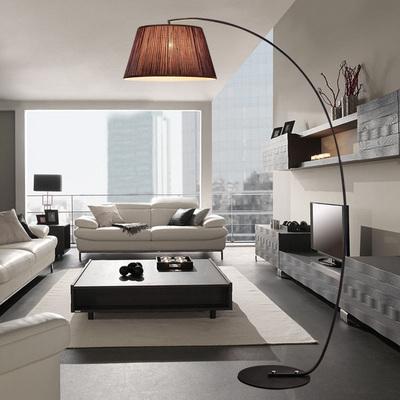 落地灯 客厅钓鱼灯简约现代沙发台灯北欧欧式立式遥控美式卧室灯