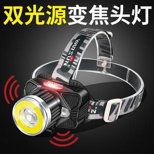 LED头灯强光充电超亮头戴式手电筒3000打猎防水矿灯夜钓鱼锂电米