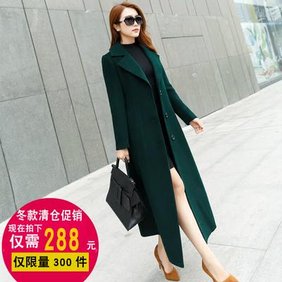 羊绒大衣女装冬季新款韩版毛呢外套女修身羊毛呢子超长款风衣过膝