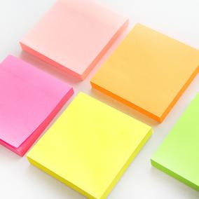 优湃●创意文具 荧光N次贴 可撕便利贴便签本便条纸记事贴 100张
