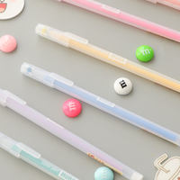 Simple color pen gel pen Korea small fresh and lovely fiber water pen 0.5 student hand account beginner