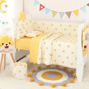 皇冠靠垫婴儿床围床品套件 宝宝床上用品 全棉可拆洗婴童多件套