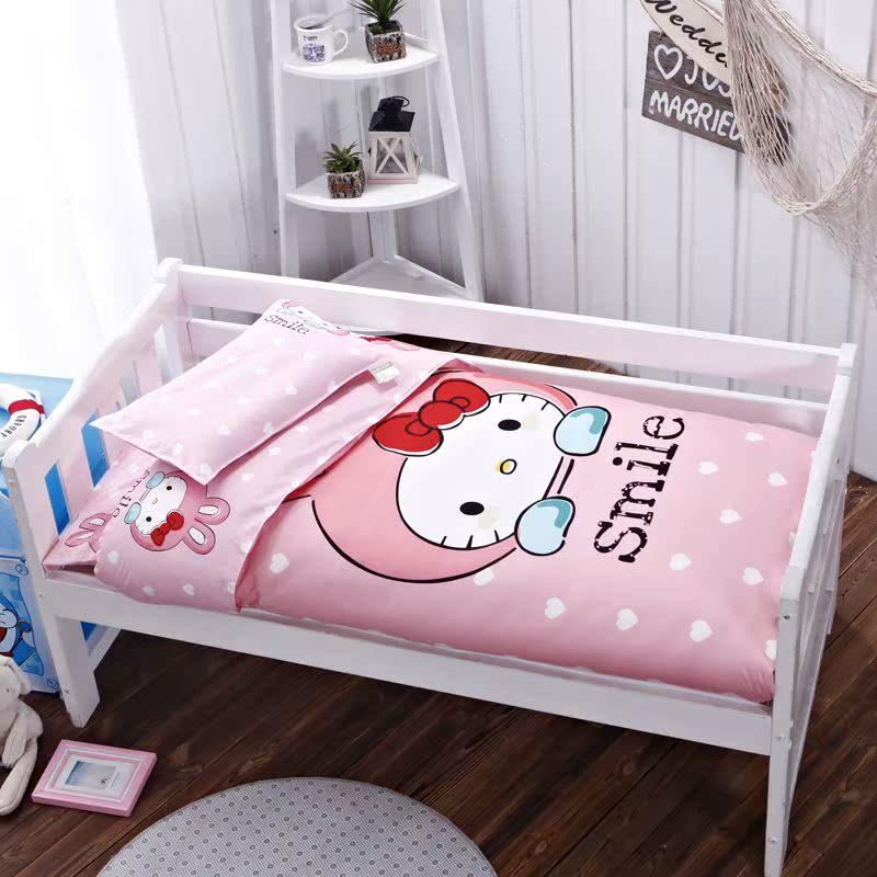 幼儿园被子三件套纯棉全棉儿童被褥床垫含芯午睡宝宝婴儿床六件套