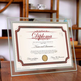A4 glass certificate frame crystal glass photo frame display authorization certificate trademark registration certificate certificate hanging wall certificate