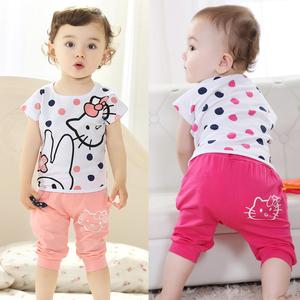 1-2-3-4岁夏季短袖婴幼儿服装儿童装女孩子衣服夏装男女宝宝套装
