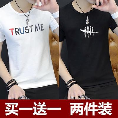 短袖t恤男2018夏季新款韩版潮流体恤青少年夏装衣服初中学生半袖