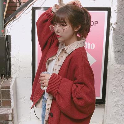 宋黛少女早春外搭针织很仙的网红开衫毛衣女洋气2019春新款外套女